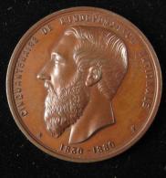 M00817 50tenaire De L´indépendance 1880, Entrepreneurs Travaux Publics, Compas équerre, Léopold II Revers Wurden, 44 G. - Royaux / De Noblesse