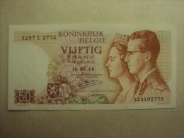 BB 039 - CINQUANTE FRANCS - VIJFTIG FRANK - BOUDEWIJN EN FABIOLA 16.05.1966 - 1297 L 2775 - 324102775 - SPLINTERNIEUW !! - [ 2] 1831-... : Belgian Kingdom