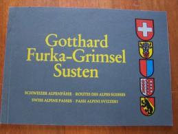 GOTTHARD PHOTOS FURKA GRIMSEL SUSTEN SCHWEIZER ALPENPÄSSE 4  ROUTE DES ALPES SUISSES AUTOMOBILES D EPOQUE - Suisse