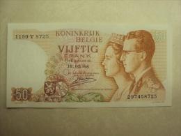BB 043 - CINQUANTE FRANCS - VIJFTIG FRANK - BOUDEWIJN EN FABIOLA 16.05.1966 - 1190 V 8725 - 297458725 - SPLINTERNIEUW - [ 2] 1831-... : Belgian Kingdom