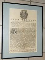 Karel Ferdinand Grave Van Cönigsegge-erps - 20 Guldens Amende Voor Ieder Overtredinge Brussels 1743 - Décrets & Lois