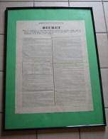 Placard : Administration Des Postes Décret 1851 - Exécut. De La Convention Des Postes Du 9 Nov 1850 France Et Sardaigne - Décrets & Lois