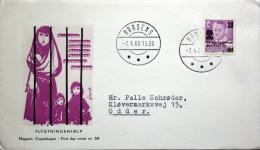 Danmark 1960 MiNr.377 Refugee Help / Flüchtlingshilfe /aide Les Réfugiés  FDC Horsens (parti 2174) MAGASIN COVER - FDC