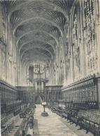 Vue De CAMBRIDGE/ Angleterre/Choir King's College  /Vers 1920-1930     IM401 - Fiches Illustrées