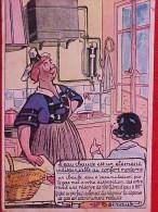 Cpa PUBLICITE : COMMANDE De COKE , CHAUFFE EAU Par Le GAZ, Illustrateur Ch BOIRAUT , BRETONNE Recto Verso  Prix Fixe - Publicité