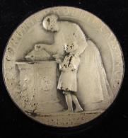 M00847 SUISSE, Caisse épargne De Neuchatel 1912, Vue Ville Et économie Produit L´aisance Avec Femme, Huguenin 78 G. - Firma's