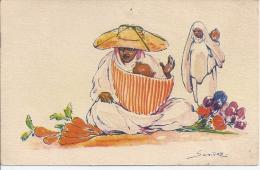 CPA AFRIQUE. ALGERIE. ILLUSTRATION. Illustrateur Orientaliste Sandoz - Tanger