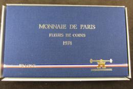 M00880 Monnaie De Paris, Série Fleurs De Coins 1974, Boite D´origine - Z. FDC