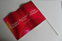 Alt382 Bandiera Drapeau Tregua Olimpica Olympic Truce Treve Olympique Giochi Olimpici Winter Games Torino 2006 Olimpiadi - Abbigliamento, Souvenirs & Varie