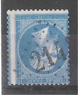 Empire  Dentelé N° 22 Obl GC 2141 De LUZ SAINT SAUVEUR, Hautes Pyrénées, Indice 4 + VARIETE Piquage à Cheval, TB TB - 1862 Napoleon III