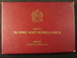 M00890 Bank Centrali Malta 1972, Proof Set, 1982, Boite Origine - Malte