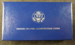 M00892 Silver Dollar, 1987, Silver 900, 26 G., 38 Mm, 1 Dollar, Constitution Coins - Émissions Fédérales