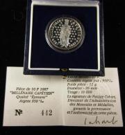 AG00894 Monnaie De Paris, 10 F. 1987, Millénaire Capétien, N° 442, Argent 12 G., Diam 26 Mm, Boite D´origine - France