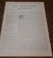 La Semaine Des Constructeurs. N°9.  24 Août 1889. Monument De L'Amiral Coligny à Paris. Eglise D'Assevent. Nord. - Magazines - Before 1900