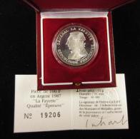 AG00896 Monnaie De Paris, 100 F., 1987, La Fayettte, N°19206,  Argent 950, 15 G., 31mm, Boite D´origine - N. 100 Francs