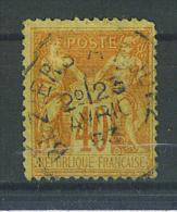 VEND TIMBRE DE FRANCE N° 94 , CACHET COURRIER-CONVOYEUR-LIGNE TYPE 2 : BEZIERS A RODEZ !!!! - 1876-1898 Sage (Type II)