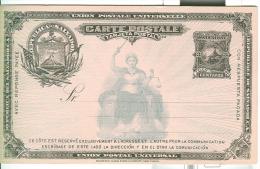 CARTE POSTALE, UPU, 3 CENTAVOS, - El Salvador