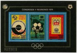 Uruguay 1974 World Champonship WC MNH Block - Uruguay