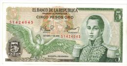 Colombia , 5 Pesos 1978, Unc. - Colombia