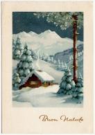 BUON NATALE - PAESAGGIO - 1957 - Christmas