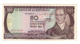 Colombia , 50 Pesos 1984, AUNC. - Colombia
