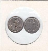 25 CENTIMES Cuivre-nickel Baudouin I 1966 FR Et FL - 1951-1993: Baudouin I