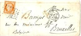 LBL20/4 - CERES 40c 1ère EMISSION SUR LETTREPARIS/BRUXELLES 13/8/1953 - DEFAUTS - 1849-1850 Cérès