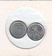 25 CENTIMES Cuivre-nickel Baudouin I 1969 FR Et FL - 1951-1993: Baudouin I