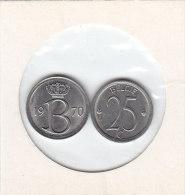 25 CENTIMES Cuivre-nickel Baudouin I 1970 FR Et FL - 1951-1993: Baudouin I