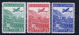 Bulgaria: 1932 Mi Nr 249 - 251 MH/* Airmail - Luchtpost