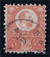 Hungary: 1871 Mi Nr 3 B Used Short Perfo At Bottom - Hongarije