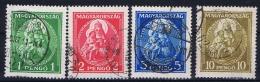Hungary: 1932 Mi Nr 484 - 487 Used - Hongarije