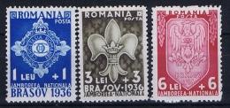 Romenia: 1936, Mi Nr 516 - 518, MNH/** - 1918-1948 Ferdinand, Carol II & Michael