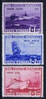 Romenia: 1936, Mi Nr 519 - 521, MNH/**, Ships