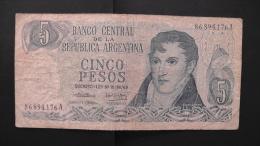 Argentinia - 5 Pesos - 1974-76 - P 294a.1 - F - Look Scan - Argentinien