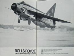 Extrait De Presse - Pub. ROLLS-ROYCE - Reportage Photos - Carriers Launch Strikes Against Vietnam -   +/- 1960 - (3432) - Aviation