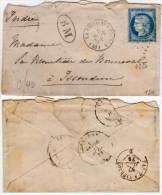 LA VILLE AUX CKLERCS   (41) Lettre Avec GC 4220 Sur Yvert 60  ('Ind 8) BM  Dans Ovale   (61878) - Marcophilie (Lettres)