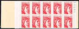 Carnet Ouvert 1,60 Sabine Rouge 2155C4 Gomme Brillante Conf 8 No 19521 - Carnets