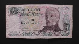 Argentinia - 5 Pesos Argentinos - 1983-84 - P 312a - F - Look Scan - Argentinien