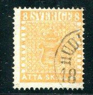 1945 - SCHWEDEN / SWEDEN / SVERIGE - 8 Skilling Banco - Mi.4a, Scott 4a, Facit 4f - Mit Attest (certified) - Gebraucht