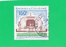 COTE D'IVOIRE ,, ,,,**  150 F. **,,,, MONUMENTS FUNERAIRES ,,, 1992,,,TBE - Ivory Coast (1960-...)