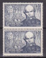 N° 909 Poètes Symbolistes: Paul Verlaine  Et Evocation De 1er Après Midi D'un Faune Par Carrière. Une Paire 2  Timbres - Nuevos