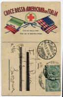 CARTOLINA POSTO DI RISTORO MILITARE DELLA CROCE ROSSA AMERICANA ANCONA ANNO 1918 - Croce Rossa