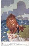 POLITICAL - FREE TRADE - WILL HE TAKE THE BAIT By S H Sime 1906 - Satirical