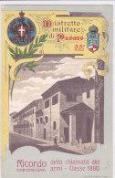 CARD PESARO DISTRETTO MLITARE  53° RICORDO CHIAMATA ALLE ARMI CLASSE 1890 STEMMA REALE  -FP-N-2-0882-18234 - Militaria