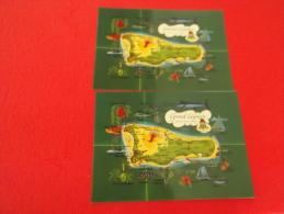B.W.I. Grand Cayman Maps Postcards - Caimán (Islas)