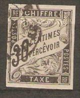 Colonies Générales Taxe N° 9 Oblitération Partielle Pointe à Pitre Avec 4 Belles Marges Colonie Générale - Taxes
