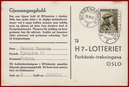 Bahnpost Norwegen Bergegensbanen  Vom 14.10.1946 - Covers & Documents