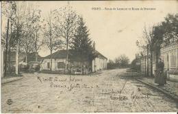 10-piney-route De Lesmont Et Route De Brevonne ,animé,attelages-rare - Non Classés