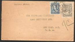 O)1929 Colombia, Santander, Scadta 20 Centavos, To United States, Xf.- - Colombia